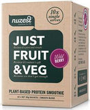 Nuzest Just Fruit & Veg Plant Based Protein Smoothie Wild Berry Sachets 25g x 10