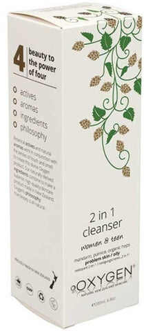 OXYGEN 2 in 1 Cleanser For Problem or Oily Skin Women and Teen 200ml