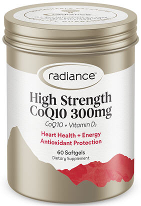 Radiance CoQ10 300mg with Vitamin D SoftGels 60