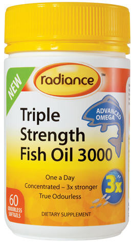 Radiance Fish Oil Triple Strength 3000 Capsules 60