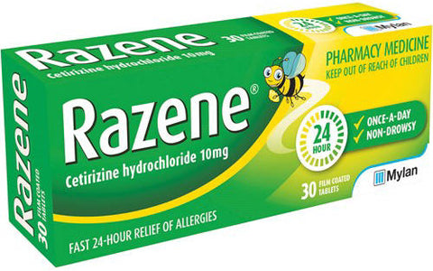 Razene Tablets 10mg 30