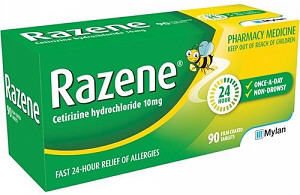 Razene Tablets 10mg 90
