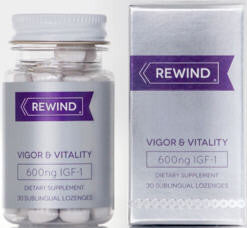 Rewind Deer Antler Extract IGF-1 600ng Sublingual Lozenges 30