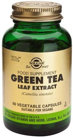 Solgar Green Tea Leaf Extract Vegetable Capsules 60