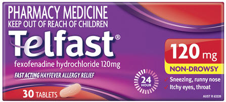 Telfast 120mg Tablets 30