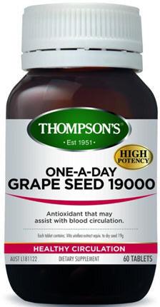 Thompson's One-a-Day Grape Seed 19,000 Tablets 60