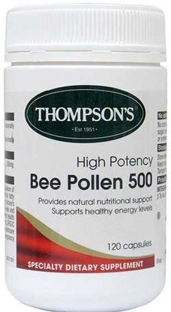 Thompson's High Potency Bee Pollen 500mg Capsules 120