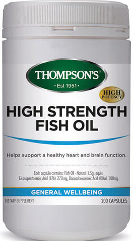 Thompson's High Strength Fish Oil 1500mg Capsules 200
