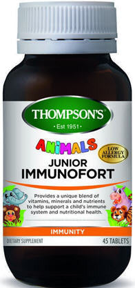 Thompson's Junior Immunofort Chewable Animal Tablets 45