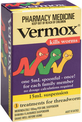 Vermox Suspension Banana Flavour 15ml