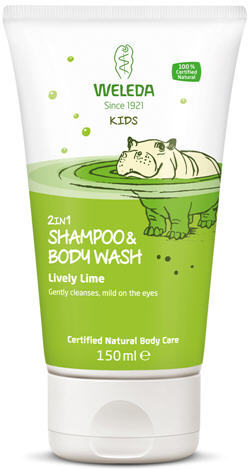 Weleda Kids 2 in 1 Shampoo and Body Wash Lively Lime 150ml