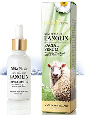 Wild Ferns Lanolin Facial Serum with Royal Jelly and Rosehip Oil 30ml