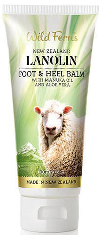 Wild Ferns Lanolin Foot and Heel Balm with Manuka Oil and Aloe Vera 100ml
