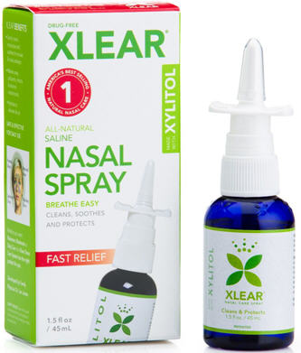 Xlear Xylitol and Saline Nasal Spray Measured Pump 45ml