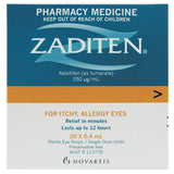 Zaditen Eye Drops Single Dose Units 20