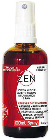Zen Herbal Liniment Joint and Muscle Pain Relief Spray 100ml