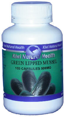 Kiwi Natural Health Green Lipped Mussel 500mg 180 Capsules