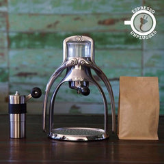 Rok Espress Maker Porlex Grinder Coffee Bean Bundle