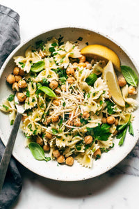 Lemon Herb Pasta Salad with Chickpeas Recipe