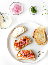Smoked Salmon Crostini; by With Spice