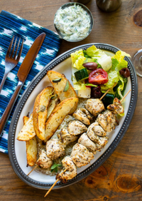 Chicken Souvlaki; by Blue Jean Chef