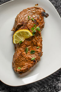 Juicy Steak with Keto Soy Sauce Marinade; by More Sweet than Salty