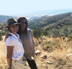 Duygu and Nancy in the Hic Olive Forest in Turkey - Travel