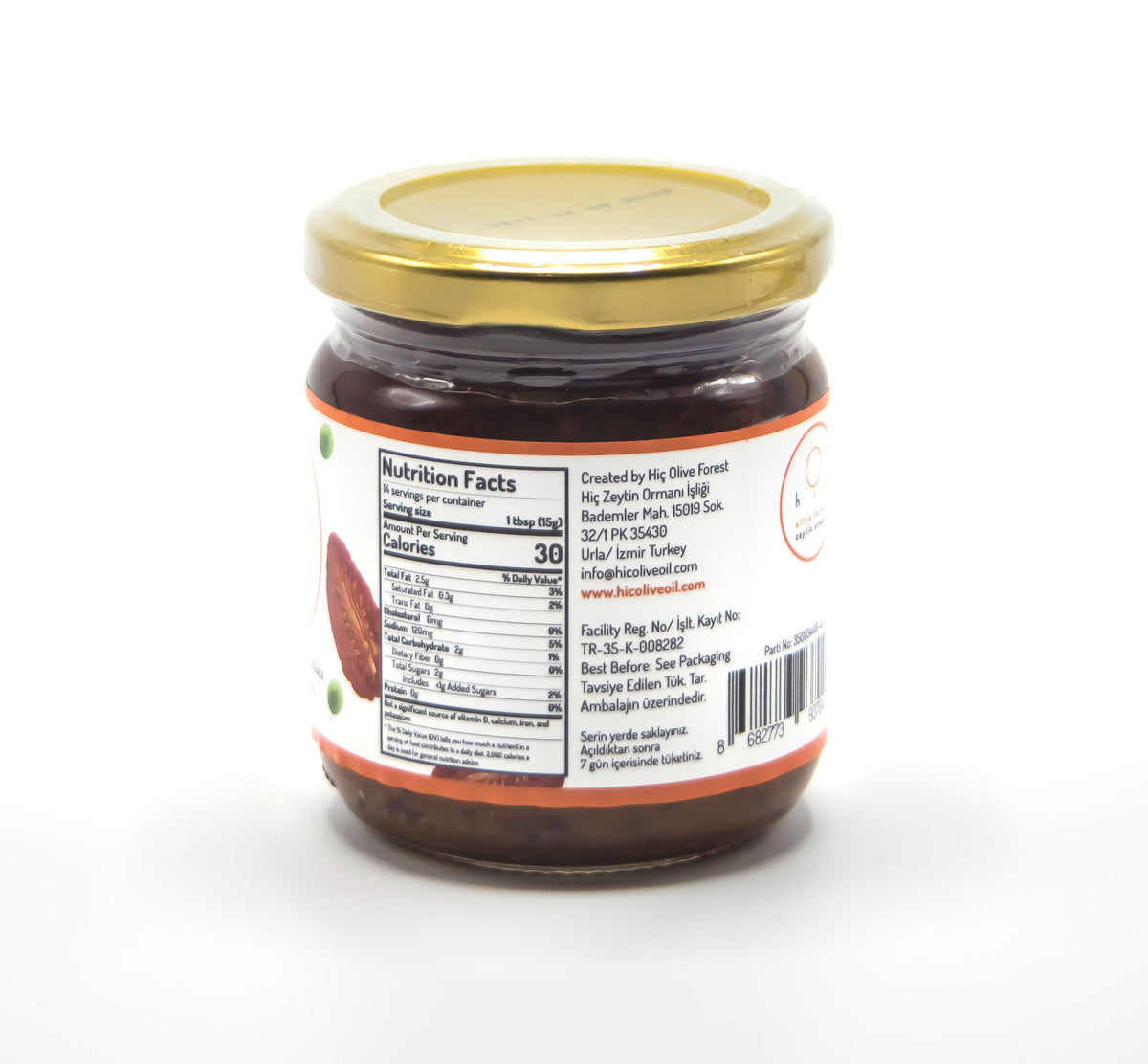 Hiç Sun Dried Tomato and Green Olive Tapenade