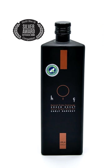 LIMITED EDITION BOTTLE with CUSTOM BOX - HIÇ ORGANIC First Cold Pressed HIÇ RESERVE - Extra Virgin Olive Oil - Forest Grown 500ml