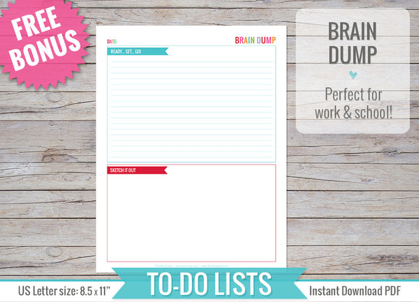 To Do Lists Inserts Printable