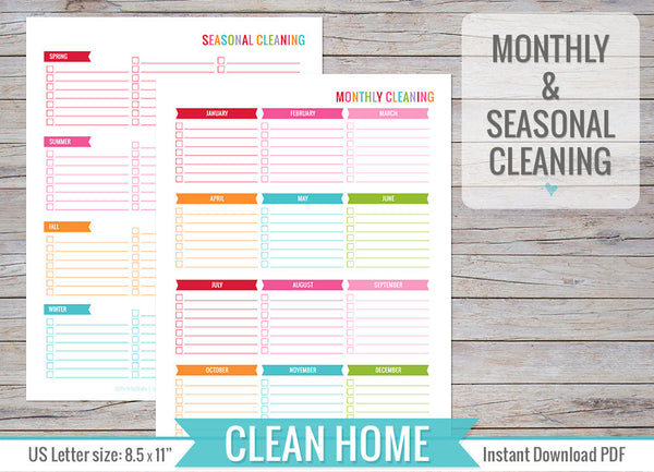 Clean Home Inserts Printable