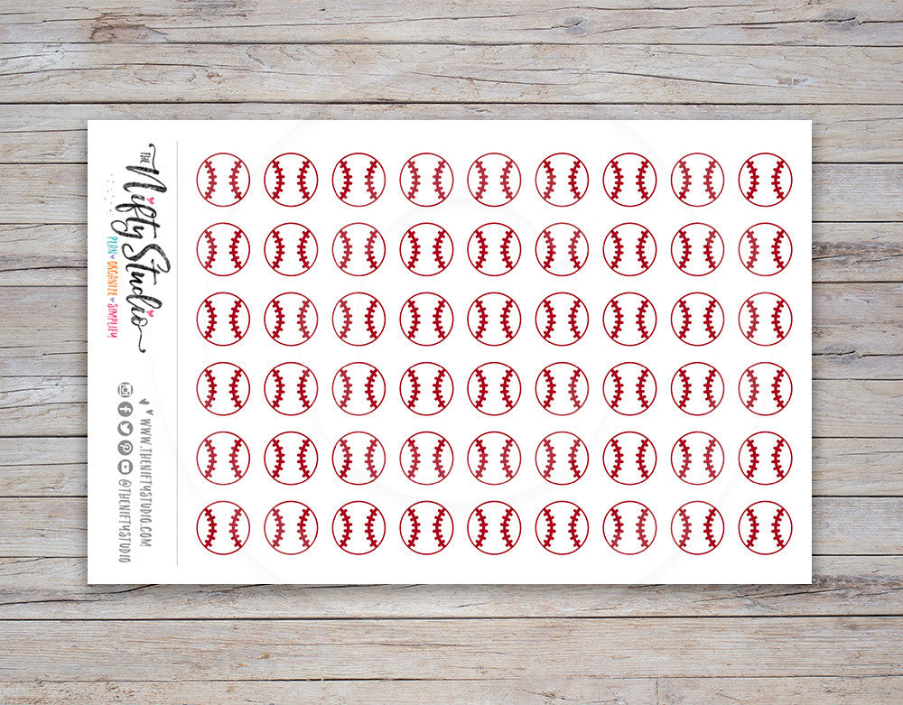 Baseball Planner Stickers [101]