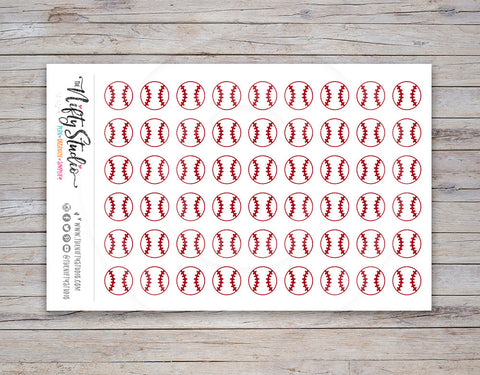 Baseball Planner Stickers (#101)