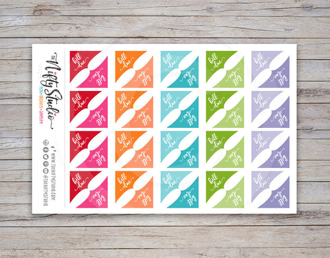 Bill Due Corner Planner Stickers [105]