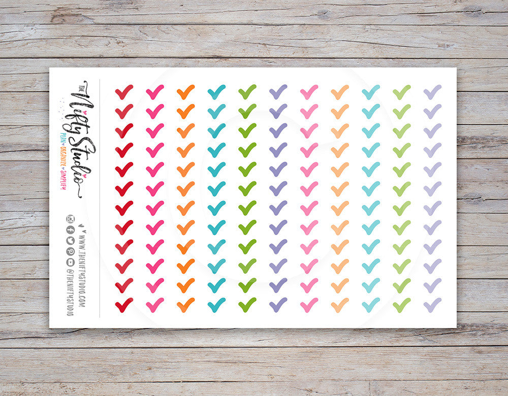 Checkmark Planner Stickers [107]