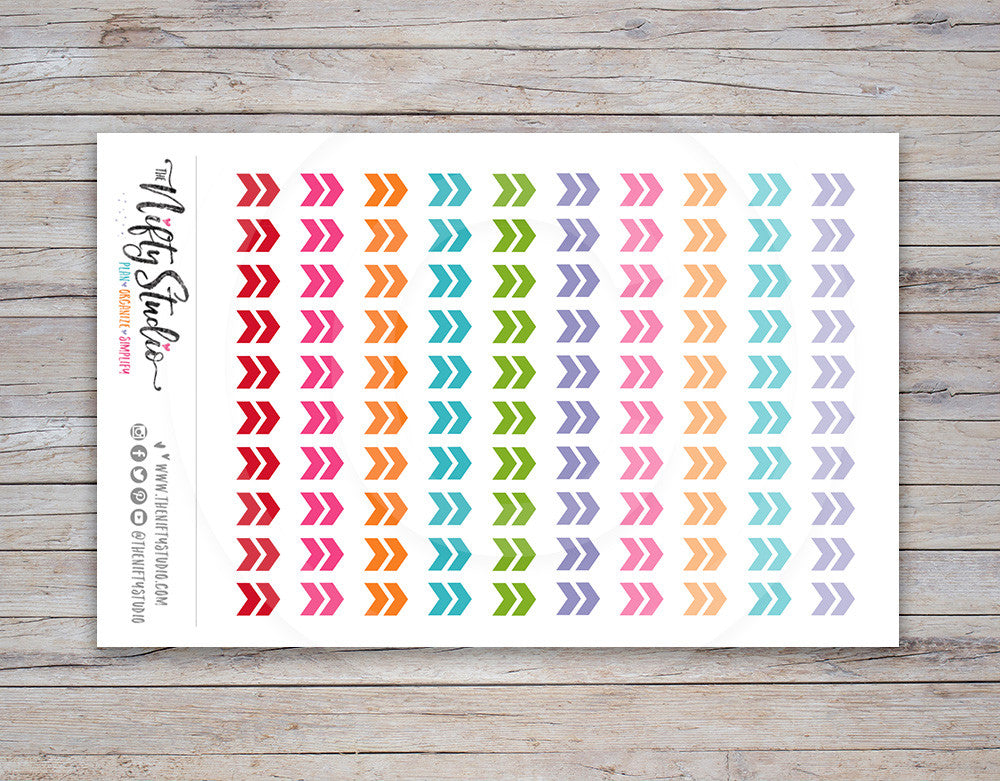 Chevron Arrow Planner Stickers (#109)