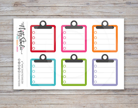 Clipboard Planner Stickers (#110)