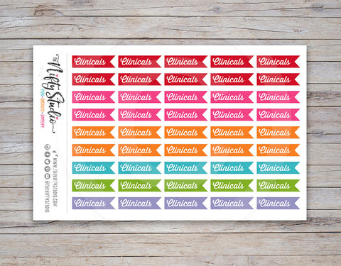 Clinicals Planner Stickers