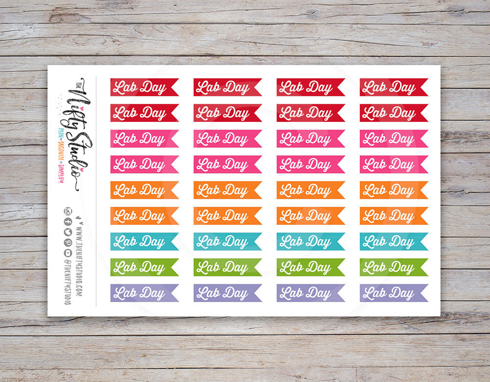 Lab Day Planner Stickers