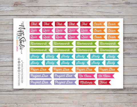 College Flag Planner Stickers Multi