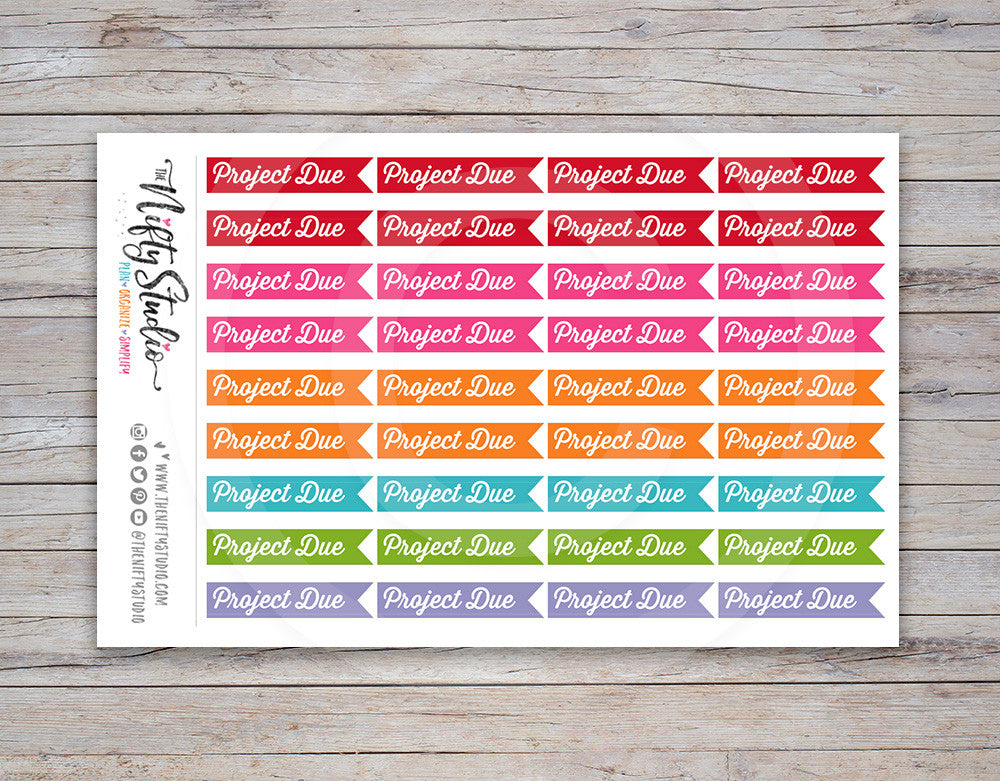 Project Due Planner Stickers