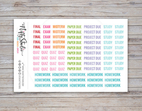 College Planner Stickers (#112)
