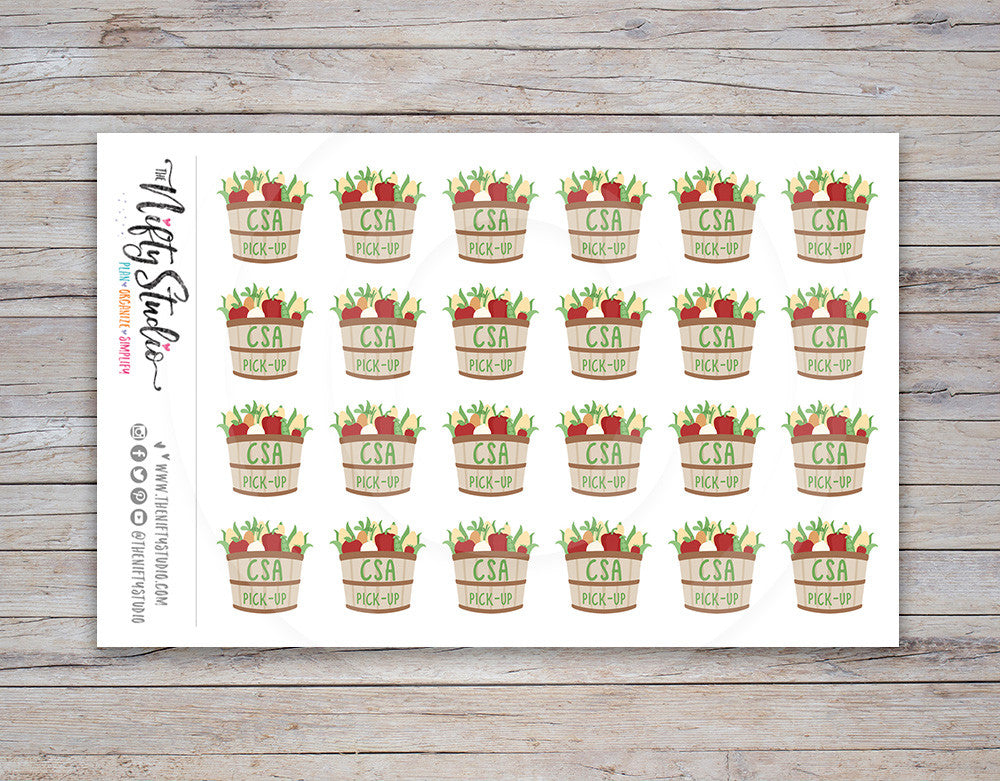 CSA Pickup Planner Stickers [114]