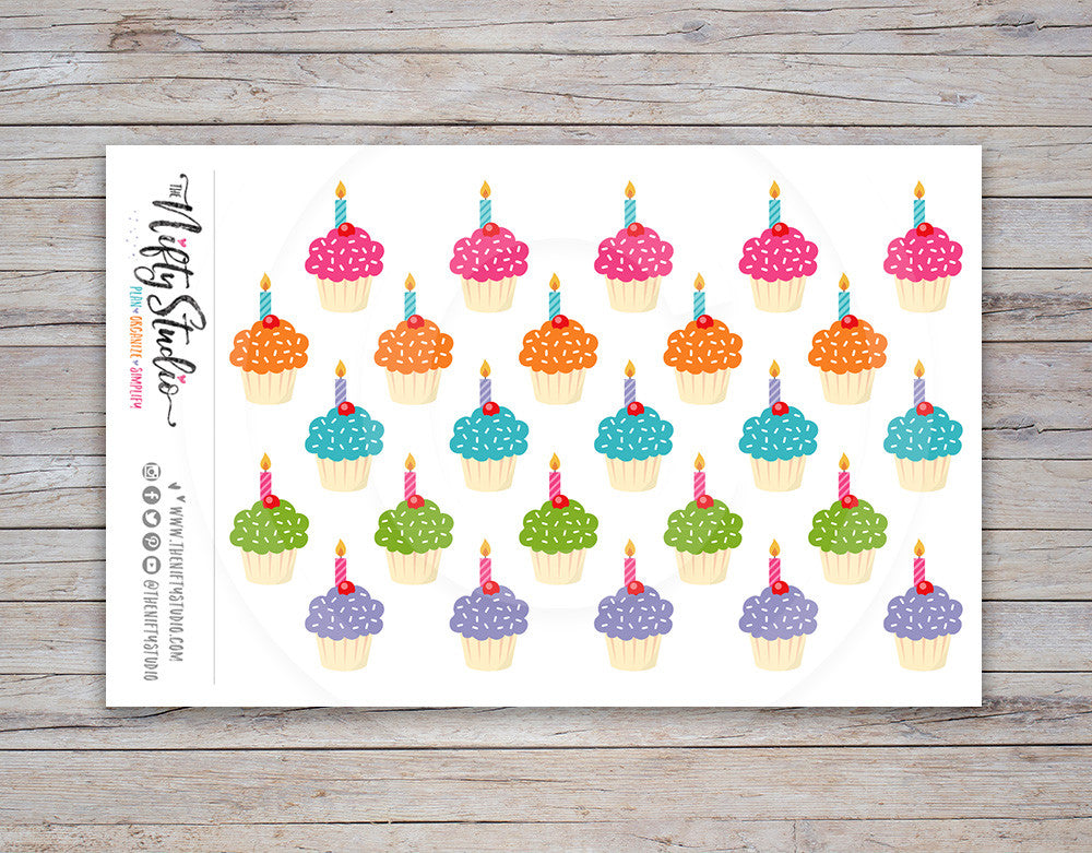 Cupcake Planner Stickers [115]
