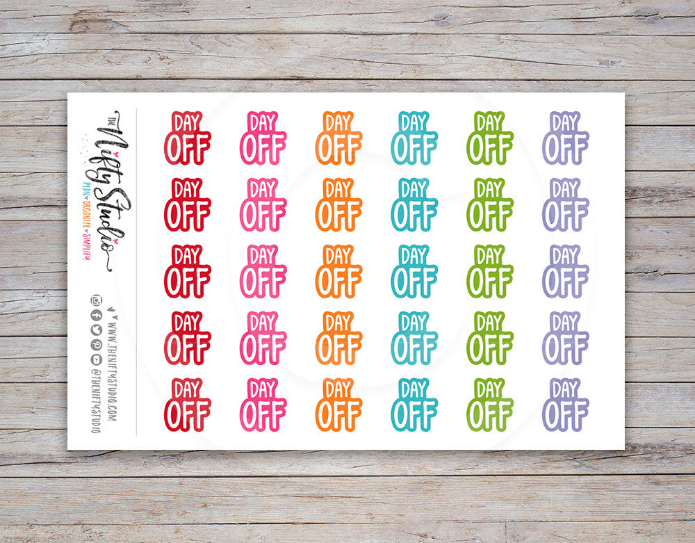 Day Off Planner Stickers [161]