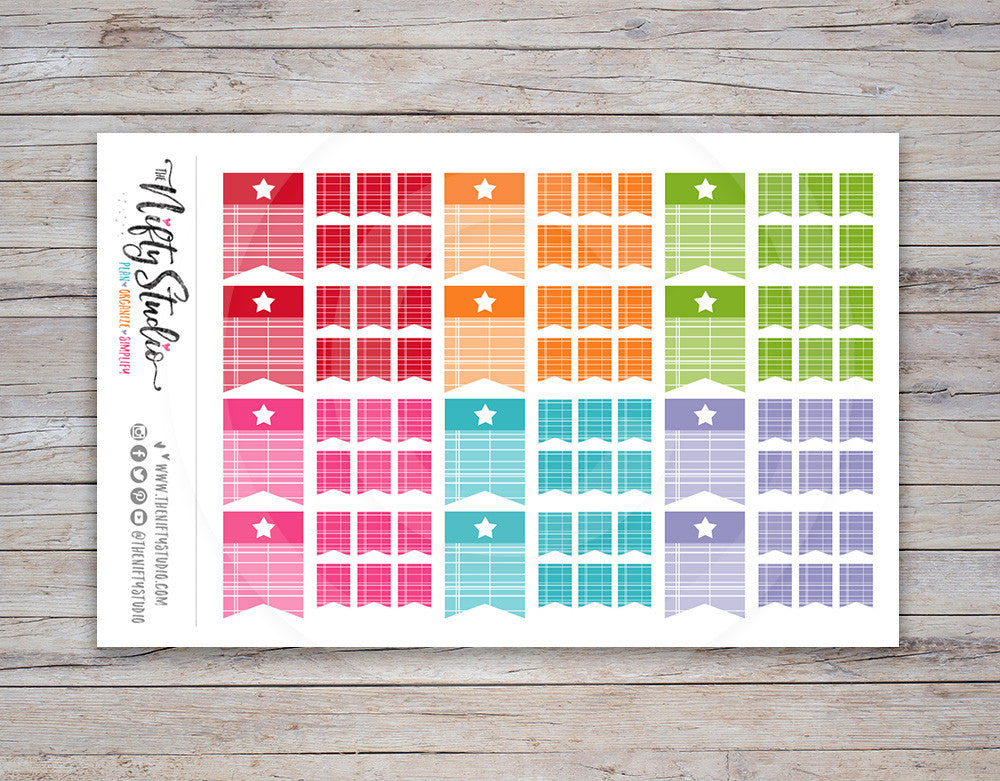 Page Flag Planner Stickers [126]