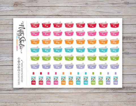 Dog Care Planner Stickers [120]