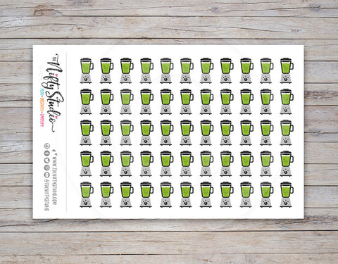 Green Smoothie Planner Stickers