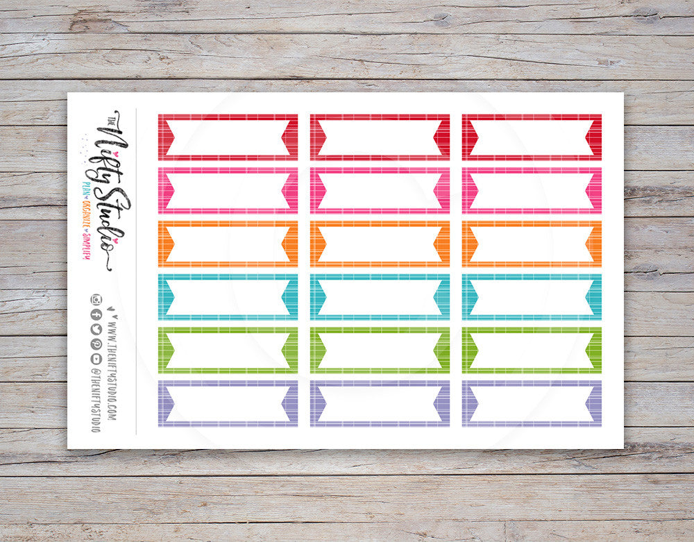 Flag Boxes Planner Stickers [125]