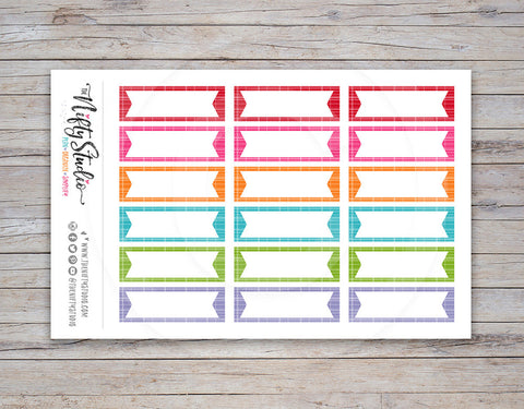 Flag Boxes Planner Stickers